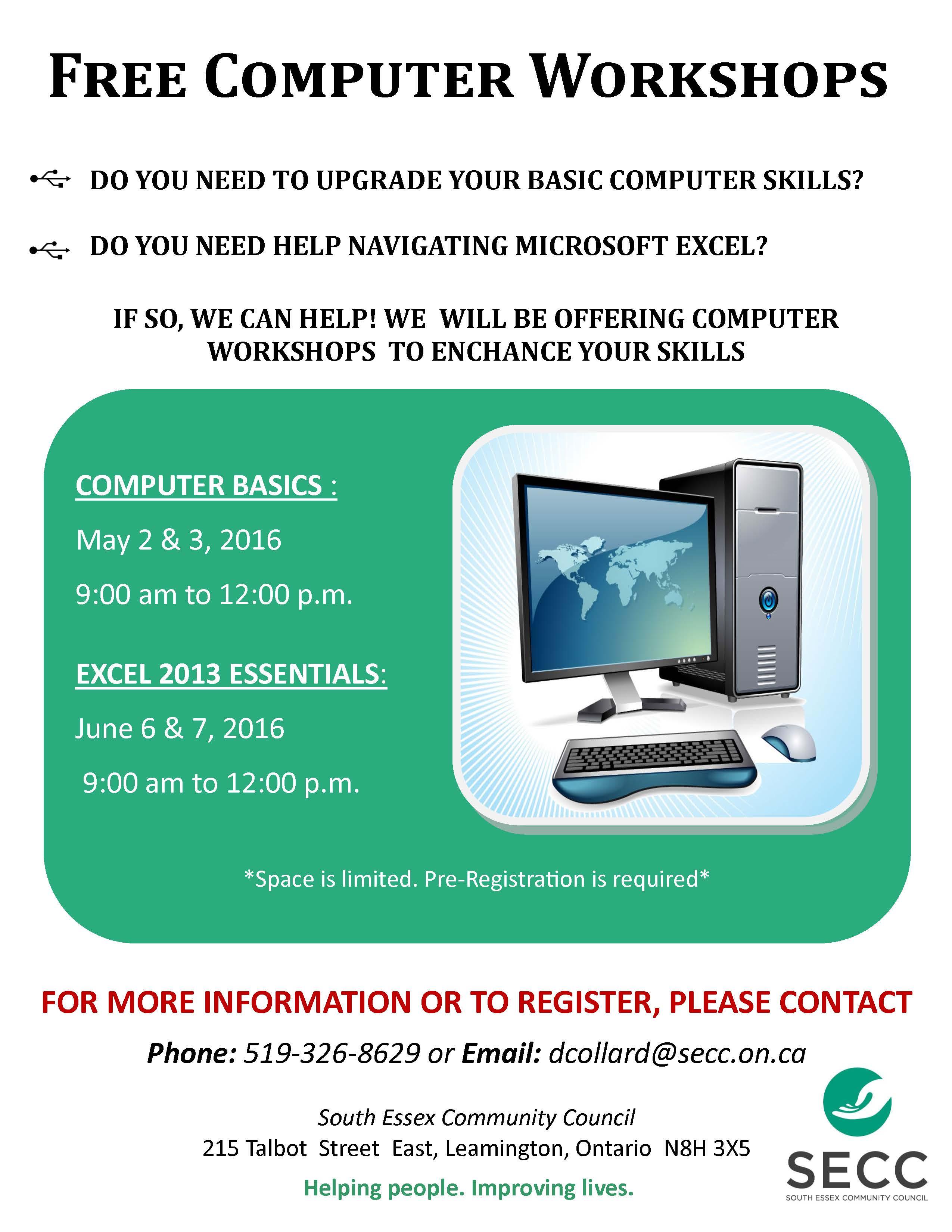 SECC Computer Workshops Poster